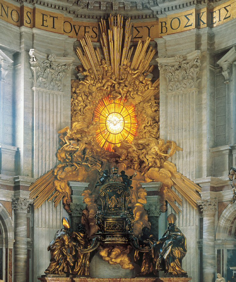 Cathedra of St. Peter in Glory - St. Peter's Basilica - www.visit-vaticancity.com