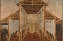 Nave and Aisles of Constantine's Basilica before St.Peter's Basilica