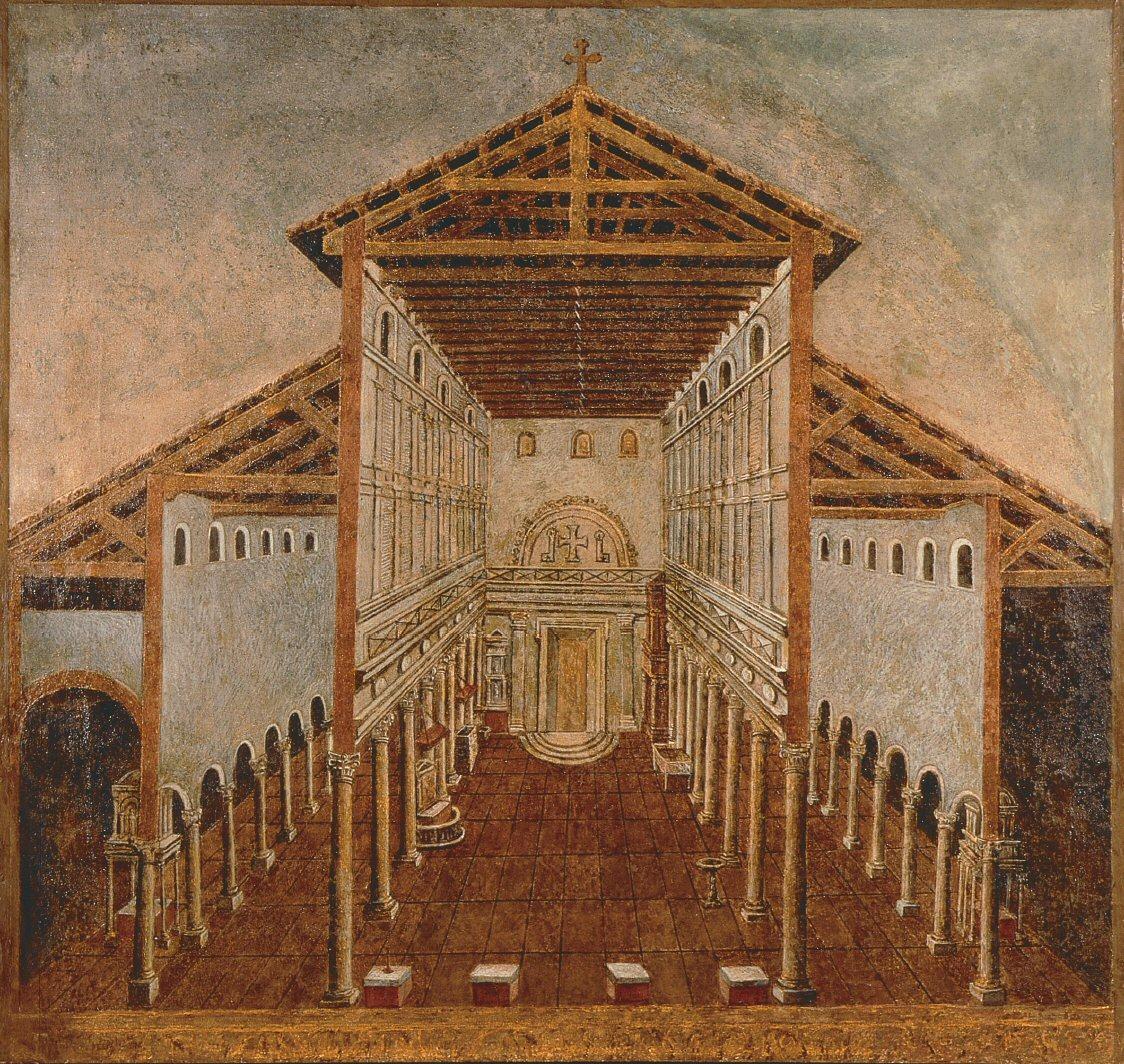Constantine's Basilica nave and aisles - St.Peter's Basilica - www.visit-vatican-city.com