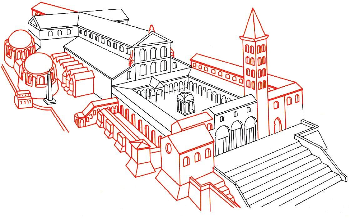 Constantine's Basilica reconstruction- St. Peter's Basilica - www-visit-vatican-city.com