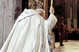 Pope John Paul II opening Holy Door in 1983 Jubilee