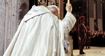 Pope John Paul II opening Holy Door in 1983 Jubilee