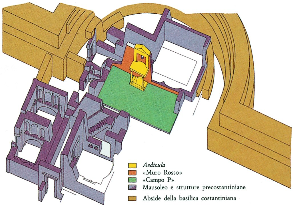 Reconstruction of the Necropolis under St.Peter's Basilica - Tomb of Peter - www.visit-vaticancity.com