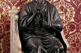 St.Peter bronze statue in St.Peter's Basilica