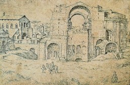 St. Peter's Basilica drawing approx 1535