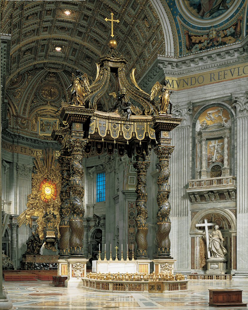 The Althar and the Baldachin - St.Peter's Basilica - www.visit-vaticancity.com