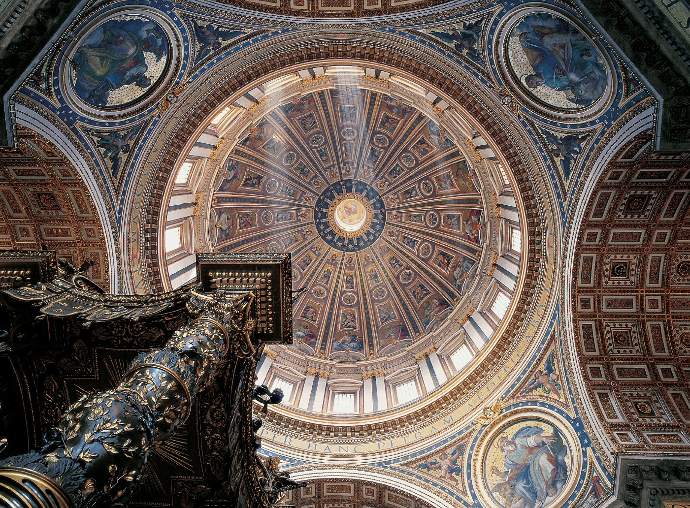 The Cupola of St. Peter's Basilica (interior view) - www.visit-vaticancity.com