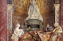 The Tomb Of Alexander VII by Gianlorenzo Bernini in St. Peter's Basilica