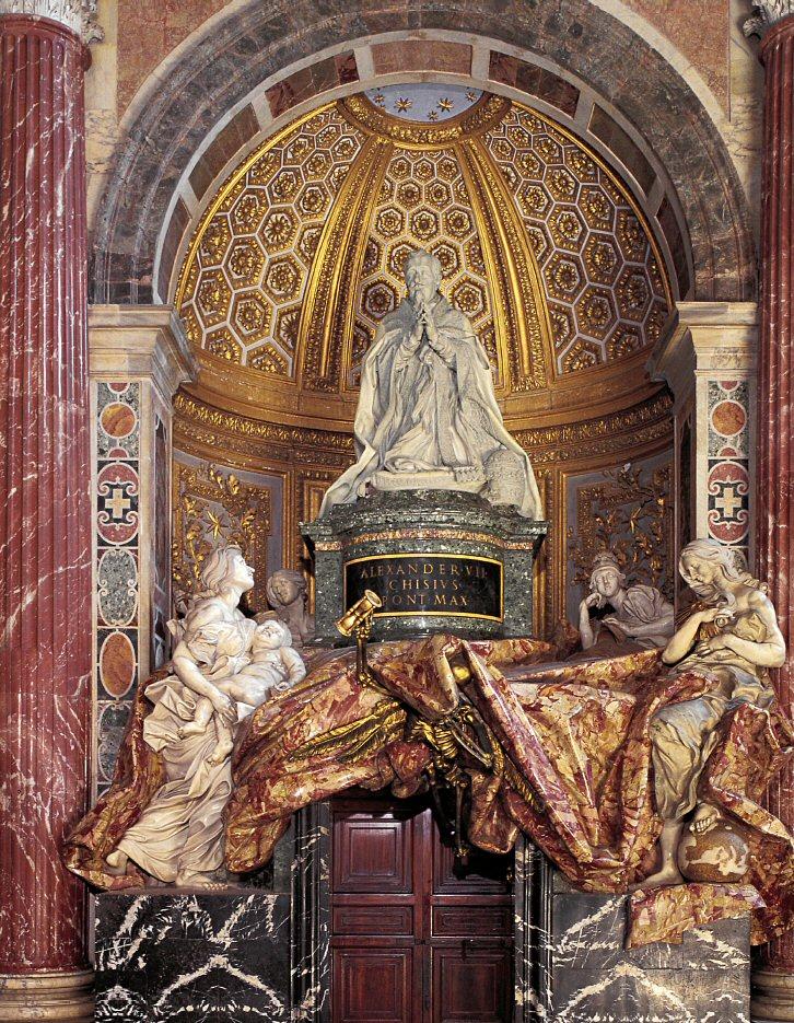 The Tomb of Alexander VII by Gian Lorenzo Bernini - St. Peter's Basilica www-visit-vaticancity.com