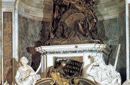 The Tomb of Urban VIII by Gianlorenzo Bernini in St.Peter's Basilica