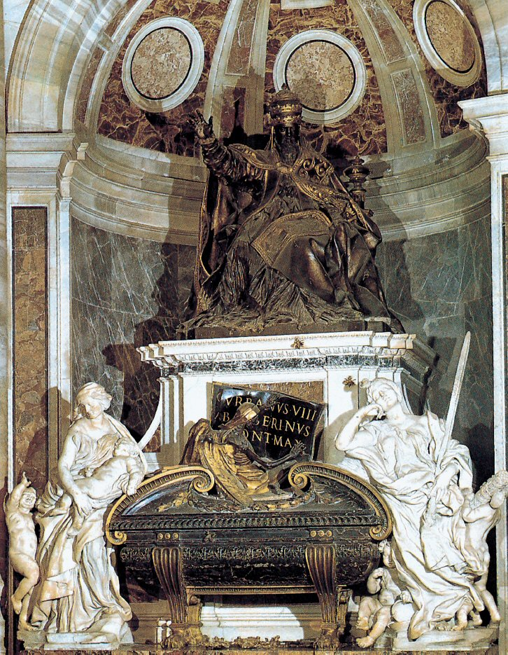 The Tomb of Urban VIII by Gian lorenzo Bernini - St. Peter's Basilica - www.visit-vaticancity.com