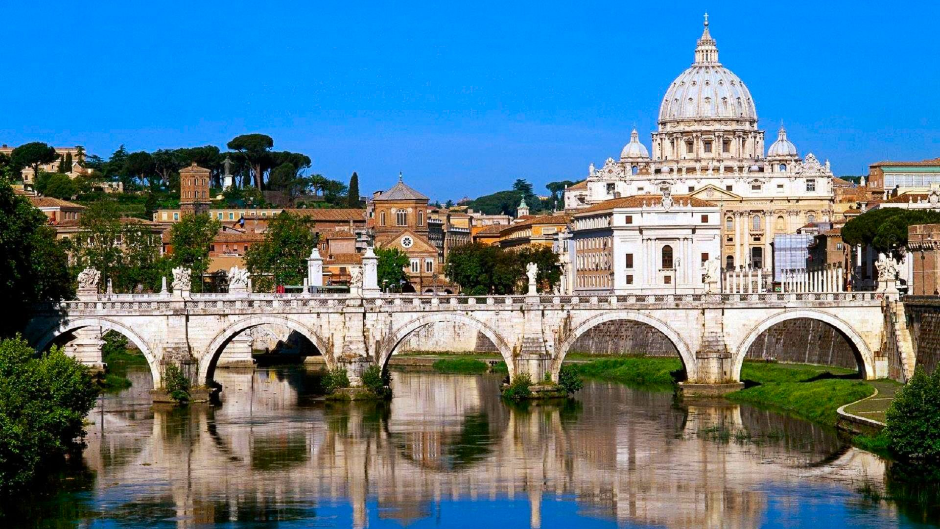 Vatican City Bridge and St.Peter's Basilica