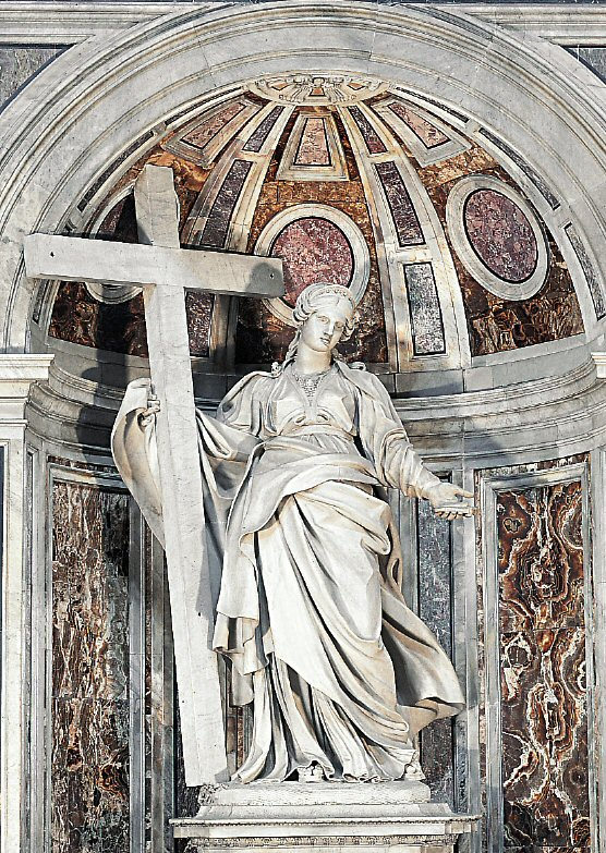 St. Helen by Andrea Bolgi - St-Peter's Basilica - Vatican City