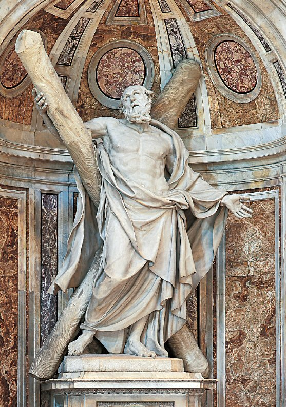 St.Andrew by Francois Duquesnoy St.Peter's Basilica - Vatican City